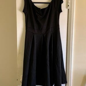 Plus Size Vintage Off the Shoulder black dress
